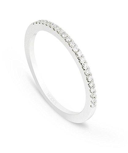 NICOLS 14710861111 - Anillo Diamantes Diamond Classic. Media alianza en línea, de 1,8 mm ancho. Peso total 0.15ct.