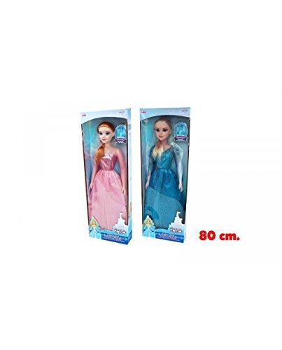 Kidz 435794 Puppe, 80 cm, Rosa-Azzurro, Rosa