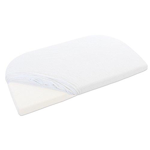 Babybay badstof hoeslaken voor Maxi, midi, Mini, boxspring en trend Met membraan. wit