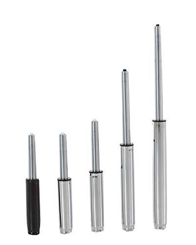 Elevador de Gas para Sillas de Oficina | Resorte de Gas Metálico Compatible con Diferentes Modelos | Pistón de Gas Universal I, Color:cromado, Tamaño:215 mm