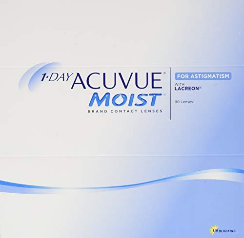1-DAY ACUVUE® MOIST for ASTIGMATISM - Lentillas diarias - protección UV - 90 lentes