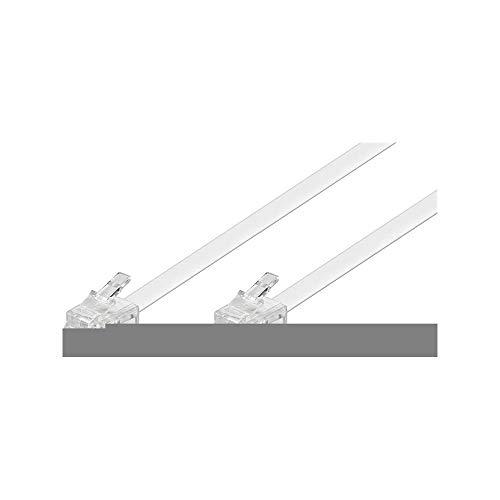 Cable modular (2x conector RJ11, 4 polos, asignado) 3m, blanco