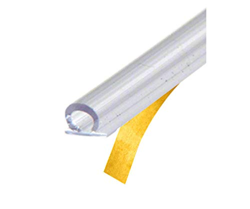 CRL Translucent Vinyl Bulb Seal with Pre-Applied Tape for 5/32' Gap - 95 in long