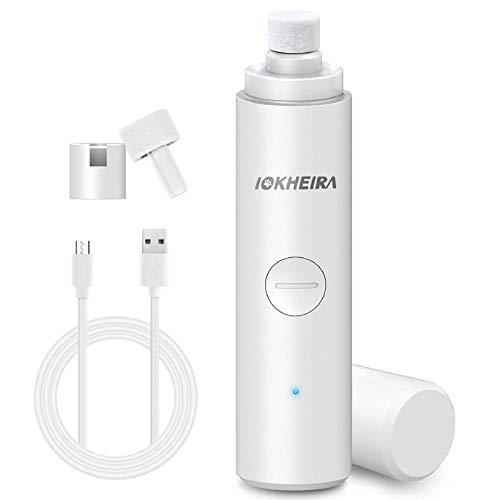 Iokheira Krallenschleifer für Hunde und Katzen,elektrischer Krallenschneider,2 LED-Leuchten, USB...