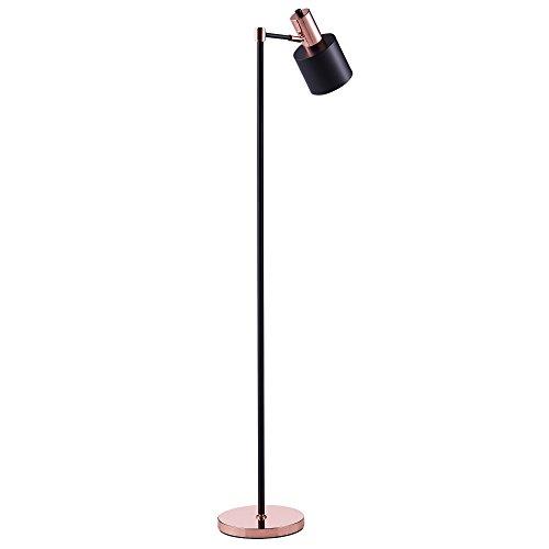 Versanora Monopiede lampadaire lampe sur pied lampe de sol noir dorée