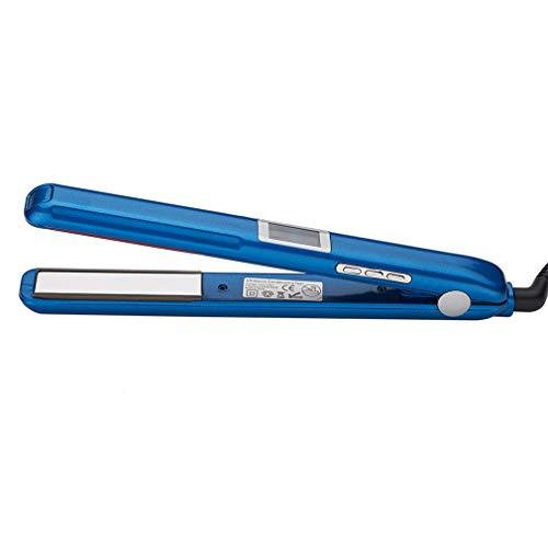 MYCZ Lisseur à Cheveux Écran LCD À Ultrasons Infrarouge Soins des Cheveux Fer Professionnel Cheveux Soins Styling Outil Fer À Repasser Froid Convient pour Tous Les Cheveux,Bleu