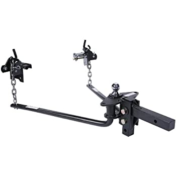 Husky 31423 Round Bar Weight Distribution Hitch with Bolt-Together Ball Mount/Shank Assembly 1200 Lbs Max Tongue