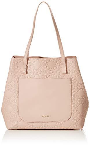 TOUS Capazo L. Mossaic, Shopper y Bolso de hombro para Mujer, Rosa, 18.5x28x30 cm (W x H x L)
