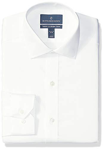 Buttoned Down Tailored-Fit Spread-Collar Micro Twill Non-Iron Dress Shirt Shirts, Infradito Colorati Estivi, con finte Perline, 17.5 Neck 37 Sleeve