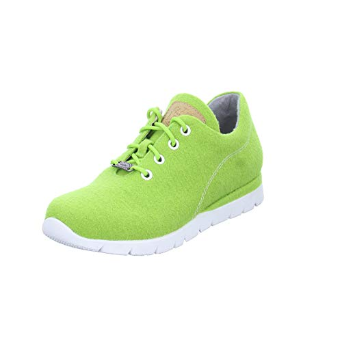 Jana Damen Sneakers 88 23605 33 Merino Wolle mit Leder-Fußbett Grün (Kiwi)