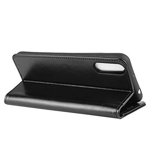 DAMAIJIA für Wiko View4 Lite Hüllen Klapphülle PU Leder Silikon Wallet Schutzhülle Schutz Mobiltelefon Flip Back Cover für Wiko View 4 Lite Tasche Handy Zubehör (Black)