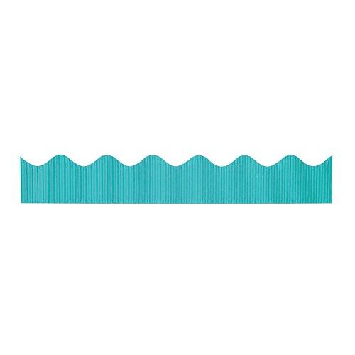 """Bordette Scalloped Decorative Border P37164, 2-1/4"""" x 50', Azure, 1 Roll"""