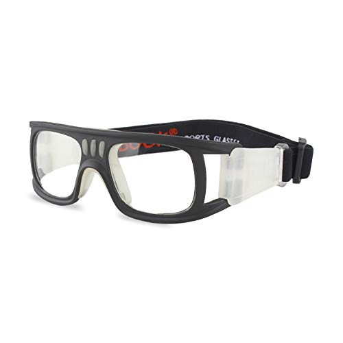 Andux Basketball Soccer Football Sports Protective Eyewear Goggles Eye Safety Glasses LQYJ-01 (Black)