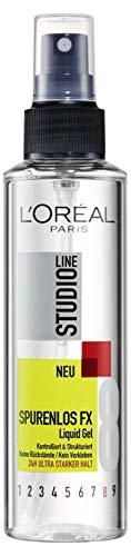 L'Oréal Paris Studio Line Flüssiges Haargel, Styling Spray für 24h ultra starken Halt, Kein Verkleben, Spurenlos FX Liquid Gel, 6 x 150 ml