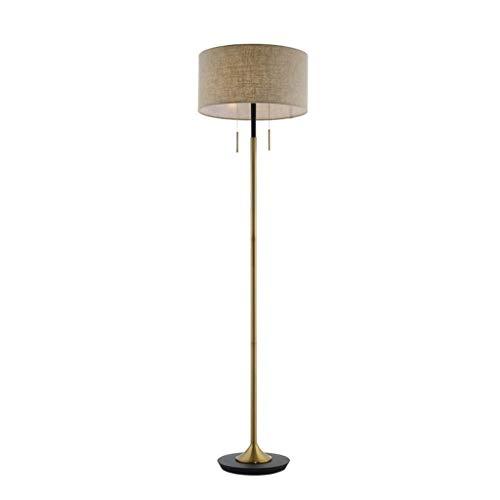 - Led-vloerlamp, staande lamp van metaal, vloerlamp met dubbele draad, schakelaar, nachtkastje, verlichting.