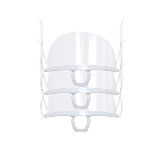 LUCKME 3/10/20 Stück Transparent Schutzvisier, Gesichtsschutz Visier aus Kunststoff, Transparente Offene Face Shield Gesichtsschutz Schutzvisier, Wiederverwendbarer Sicherheitsgesichtsschutz