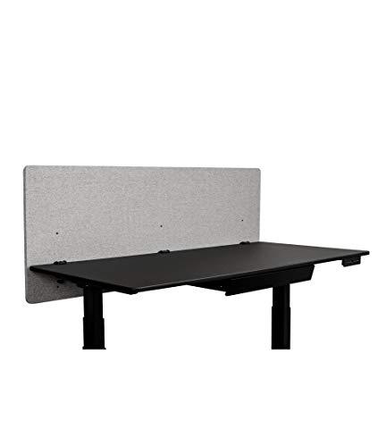 ReFocus™ Akustische Klemmtrennwand mit Stoffbezug - Reduzieren Sie Lärm und visuelle Ablenkungen mit diesem leichten, am Schreibtisch montierten Sichtschutz (Kühlesgrau, 60