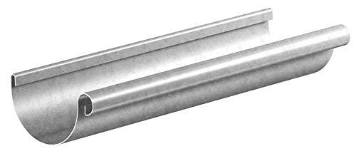 Dachrinne Stahl verzinkt NW 80mm Länge 2 Meter