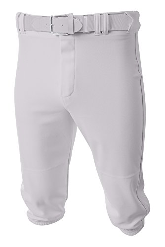 A4 Mens Baseball Knicker Pant, 3XL, White