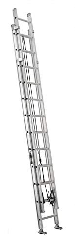 Louisville 24 ft Aluminum Extension Ladder, 375 lb Load Capacity, 52.0 lb Net Weight - AE1224HD