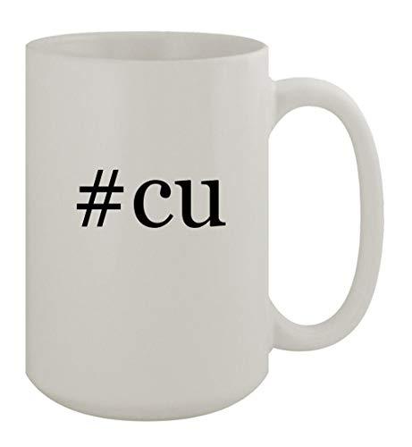 #cu - 15oz Ceramic White Coffee Mug, White