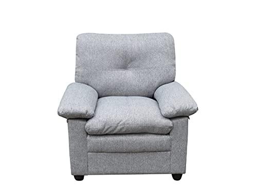 MUEBLIX.COM | Sofa 1 Plaza o Butaca Coast | Sofas de Salón Modernos | Asientos y Respaldo Espuma | Sofa Tapizado en Tela | Color Gris