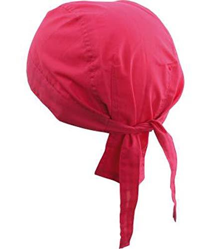 noTrash2003 Design Bandana Cap Mütze Kopftuch verschiedene Farben für Sport und Freizeit (Pink)