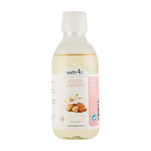 HEALTH4U Aceite de Almendras Dulces - 100% Puro, Natural, Prensado en frío | Equilibra la piel, hidrata cabello, cuerpo y uñas | Aceite esencial para masajes | Bote (250 ml)