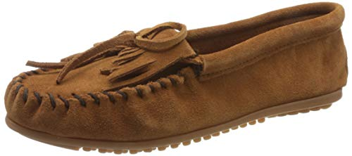 Minnetonka Women's Kilty Moccasin,Brown,6 M US