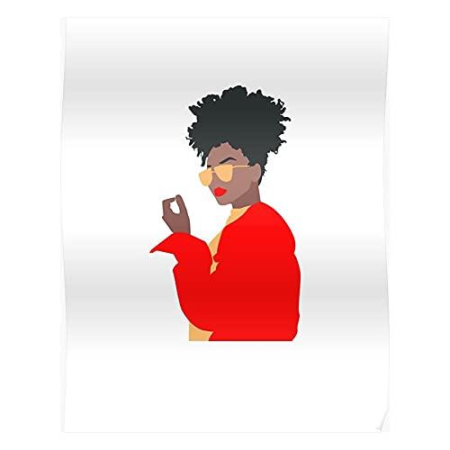 Power Nicki Natural Pop Woman Hippie Minimal Hip Twerk Black Pink Feminism Hair Light Beautiful Trending Women Queen Womens Dreadlocks American Afro Hop Best Wall Art for Home Decoration