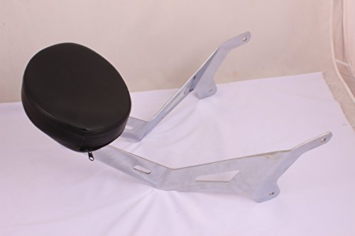 Y49 Fixed Mount Short Chrome BACKREST Upright & Custom PAD for Yamaha Star Stryker