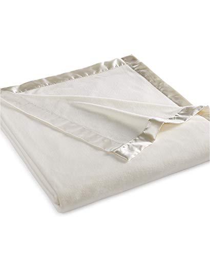 Martha Stewart Easy Care Soft Fleece Blanket (Queen, Ivory White)