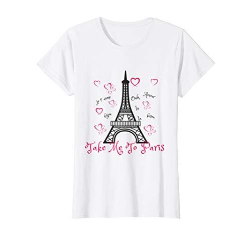 Paris Eiffel Tower T-shirt- 'Take me to Paris'
