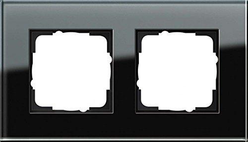 Gira 021205 021205 Rahmen 2-Fach Esprit Glas, schwarz