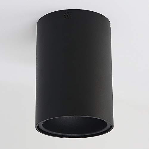 Aufbauleuchte Aufbaustrahler Aufputz SUNNY GU10 Fassung 230V Deckenleuchte Strahler Deckenlampe Würfelleuchte Kronleuchter aus Aluminium Spot - ohne Leuchtmittel (schwarz)
