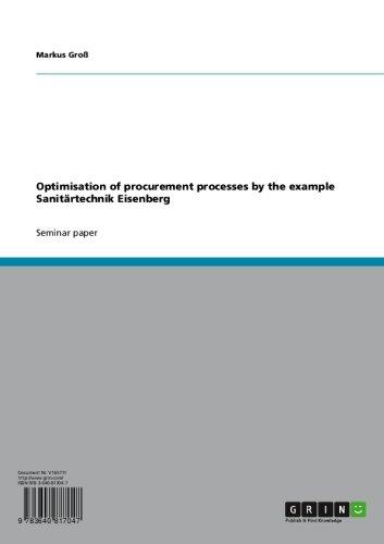 Optimisation of procurement processes by the example Sanitärtechnik Eisenberg (English Edition)
