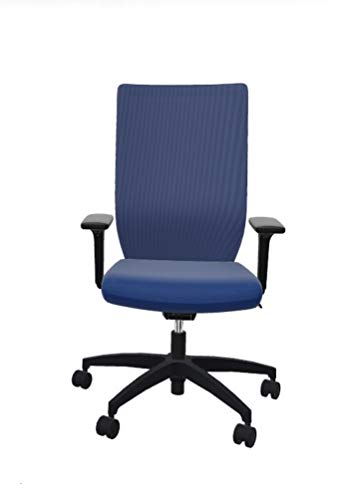 Dauphin Stilo Schreibtischstuhl mit Netzrücken, nachhaltig produziert, 5 Jahre Garantie, blau