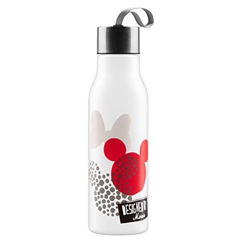 Presco Group Baagl Design Trinkflasche - Wasserflasche für Unterwegs - BPA frei, 600 ml (Disney Minnie)