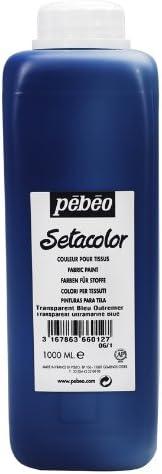 Outlet sale feature Pebeo Long Beach Mall Setacolor Light Fabrics Paint Bottle B Ultramarie 1-Liter
