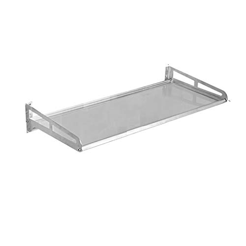 NYDZDM Estante del almacenaje de la pared del estante del soporte del almacenamiento de la cocina del acero inoxidable estante 100 * 35 * 12.5cm del almacenamiento (Size : 120cm)