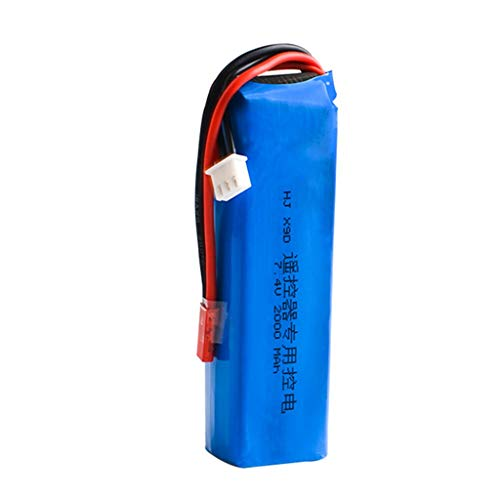 Sixcup RC Akku,Fernbedienung Batterie Upgrade 7.4V 2000MAH Lipo Batterie Teil für FrSky Taranis X9D Plus Sender,Batterie für Hubschrauber (Blue)