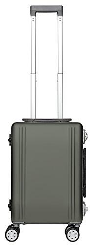 Packenger Valise de voyage alu de 33 L de contenance, couleur champagne, 46x32x21 cm, deux cadenas TSA