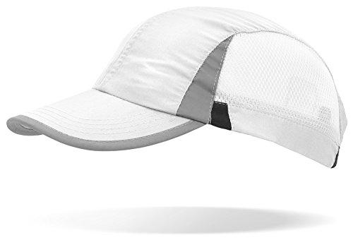 noorsk Sportcap Baseballcap im Jockey-Stil mit reflektierenden Elementen am Schirm und an den Seiten weiß OneSize