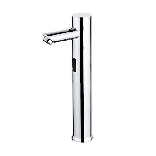 Kids Automatische infrarood wastafelarmatuur voor badkamer met touchless waterkraan voor water met batterij DC 6 V energiebesparende waterkraan koud- en warmwatermengkraan