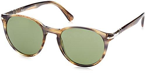 Persol Unisex-Erwachsene 0PO3152S Sonnenbrille, Striped Brown Grey 90424E, 52