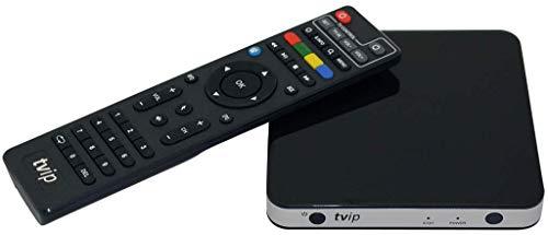 TVIP S-Box v.501 TV IP HEVC Full HD Android/Linux Multimedia Player Internet TV IP 512MB RAM + 8GB eMMC, MicroSD Card, EXT.IR, 2,4GHz WLAN inkl. HDMI Kabel