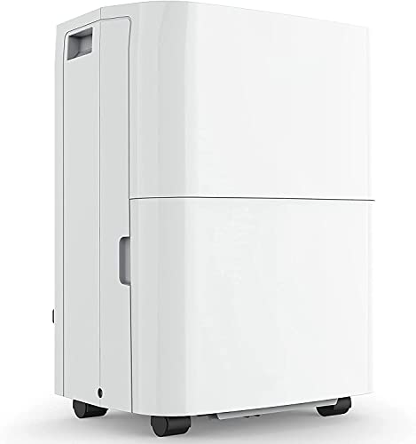 3000 Sq.ft Dehumidifier Energy Star, Auto-shut Off and Continuous Drainage, 24H Built-in Timer, Efficient and 35 pint Portable Home Dehumidifiers for Basements, Bathroom, Wardrobe, Bedroom- TKD350