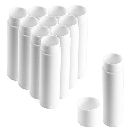 KINDPMA 50 Stück Leer Lippenstift Kunststoff Lippenstifthülsen zum Selbst Befüllen 5ML Hausgemachte Lippenbalsams Lippenpflegestift Behälter Lippenpflege Hülsen für DIY Lippen Balm Tubes
