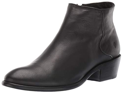 Frye Women's Carson Piping Ankle Boot, Black, 7.5 Medium US