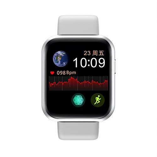 YONGLI Plus Moda Multi-Idioma Recargable Bluetooth Bluetooth Pulsera Deportiva Fitness Detección De Ritmo Cardíaco con Micrófono (Color : Sliver White)